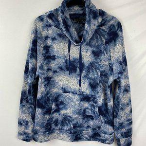 Derek Heart Funnel Neck Sweatshirt Size Large Blue